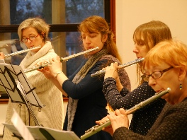 Rehearsing in the Apex Studio on a FATB Flute Day